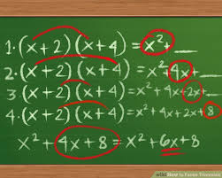 image titled factor trinomials step 1