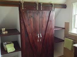 white wooden sliding door on playroom closet