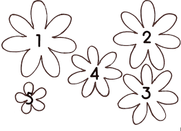 Free Paper Flower Templates Printable Free Printable Paper Flower Templates Freetmplts