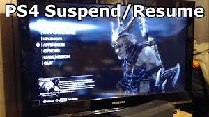 PS4 Suspend Resume.
