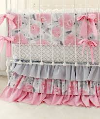 astounding pink gray fawn baby bedding set girls pink deer woodland nursery together with excellent pink and gray crib bedding