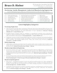 Resume Format For Quality Engineer Production Manager Resume Template Coolcalendarapp Com
