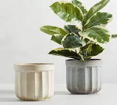 mendocino stoneware planters pottery barn