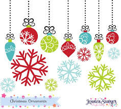 Instant Download Bright Christmas Ornament Clipart Or