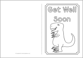 Small Picture Get Well Soon card colouring templates SB8890 SparkleBox