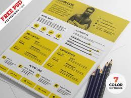 Modern 2020 Resume Modern Resume Design Template Psd Set Psdfreebies Com