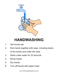Hand Washing Chart Free Printable Printable Handwashing Sign