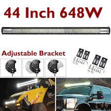 Daylight Led Light Bar Amazon Com Led Light Bar Tri Row 44 Inch 648w Super Bright