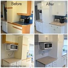 painting kitchen cabinets before and afterTips for Updating 80s Kitchen Cabinets  The Handymans Daughter