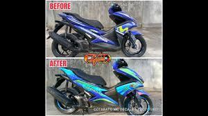Aerox Decals Design Yamaha Aerox 155 Via Via Concept Cotabato Mc Decals
