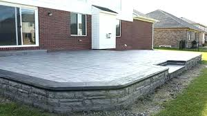 Raised Concrete Patio Flooring Options Stamped Of Pertaining To