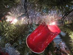 Christmas Lights Solo Cups An Artificial Christmas Tree With Non Blinkings Lights Ti