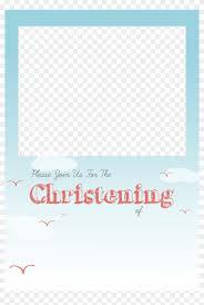 Baptism Invitations Templates Christening Png Free Baptism Invitation Template Png