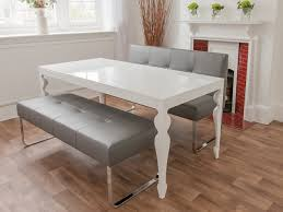 White Dining Bench Kitchen U Room Sets Enchanting For Table Arthur