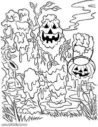 Small Picture Creepy Halloween Coloring Pages Coloring Coloring Pages