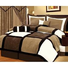 double bed comforter. Unique Comforter Comforter Sets Chezmoi Collection Pieces Black Brown And White Suede  Patchwork Set Bed In To Double