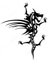 трайбл тату дракон татуировка дракона векторное изображение