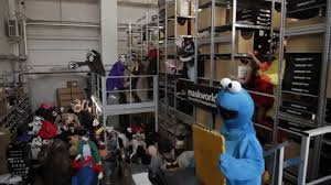 cookie monster dancing gif. Brilliant Monster Cookie Monster Dancing GIF By Maskworldcom Intended Gif M