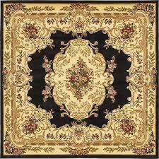unique loom versailles collection black 6 ft square area rug 6 x 6
