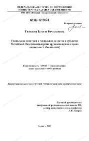 Диссертация на тему Социальная политика и социальное развитие в  Диссертация и автореферат на тему Социальная политика и социальное развитие в субъектах Российской Федерации