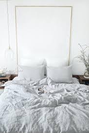light gray linen duvet cover set 3 forest green