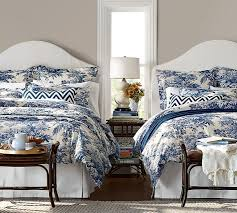 matine toile duvet cover sham blue white bedroomstwin