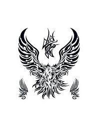 Orel Tribal Velké Nalepovací Tetování Potetujcz