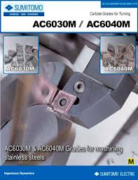 Sumitomo Carbide Grade Chart Ac6000 Catalog Sumitomo Electric Carbide Pdf Catalogs
