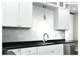 backsplash tile edge white kitchen black bevel edge subway tile