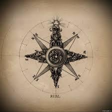 эскиз татуировки компас 42836 тату салон дом элит тату