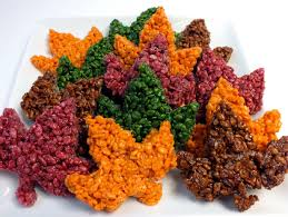 thanksgiving rice krispie treats.  Thanksgiving These Beautiful Fall Leaves Rice Krispie Treats Are Delicious Easy To Make  And Perfect For With Thanksgiving I