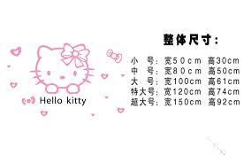 Hello Kitty Cat <b>Acrylic</b> 3D <b>Wall</b> Stickers Children's <b>Room</b> Cartoon ...
