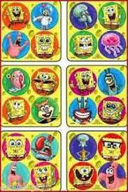 Details About Spongebob Dots Stickers X 24 6 Sheets Favours Preschool Reward Charts