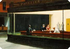 cleanwell as a coffee drinker hopper s painting has always called to mind the simple pleasure of a hot cup of coffee on a cold night