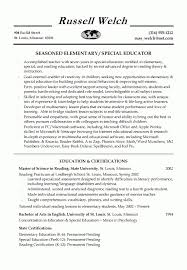 Education Resume Template Teaching Example For Educator Capable ...