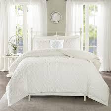 madison park sarah white tufted comforter 4 piece set