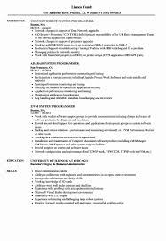 Performance Engineer Mainframe Resume Sample Impressive Mainframe ...