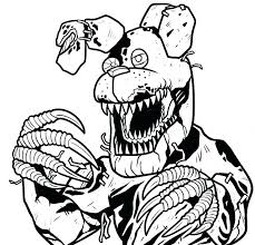 Fnaf Coloring Pages Toy Nightmare Drawing Five Nights At Mangle
