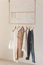 metal hanging ceiling clothing rack