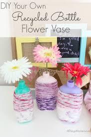 diy recycled bottle flower vase craft