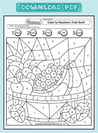 Get Pdf Coloring Preschool Worksheets Preschool Color By Numbers