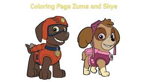 Small Picture Coloring Pages for kids Paw Patrol Zuma and Skye 2016 YouTube