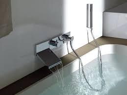 wall mounted bathtub faucets beautiful waterfall faucet for tub wall mounted bathtub faucets
