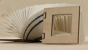 laser cut coptic bound book by dracoloricatus