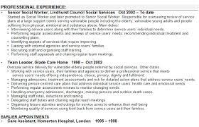 Cv Template For Care Assistant Social Worker Cv Sample