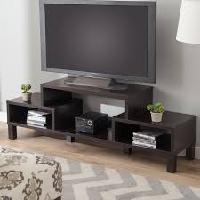 decoration: Big LED TV On Unusual Tv Stands With Cute Flower Vase Above  Books Ront