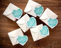 plantable paper heart favors diy wedding gift packaging