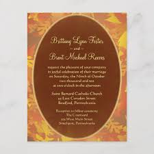 Sample Of Weeding Invitation Sample Wedding Invitation Autumn Mist Round
