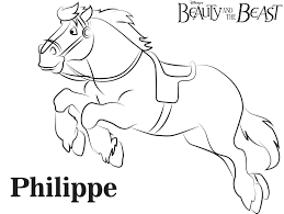 Small Picture Philippe Beauty and the Beast Free Printable Coloring Page Sheet