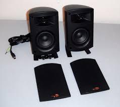 klipsch promedia 2 1 thx. mint klipsch promedia 2.1 thx computer audio satellite speakers tested w/ wires! 2 1